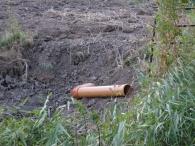 drehbares Rohr unter-Heckloch als Wasserstandregulierung